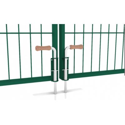 """Ворота розпашні """"ДУОС"""" 200х50мм 5,00мм/4,00мм/5,00мм 2,00м/5,00м (2,50м+2,50м) оц.+ПП RAL 6005 ЗЕЛЕНИЙ 3,00м/80х60мм/2,0мм 60х40мм/1,5мм +замок"""